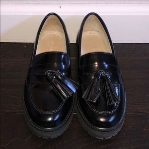 Tassels leather loafers